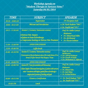 Workshop Agenda on Modern Therapy in Varicose Veins